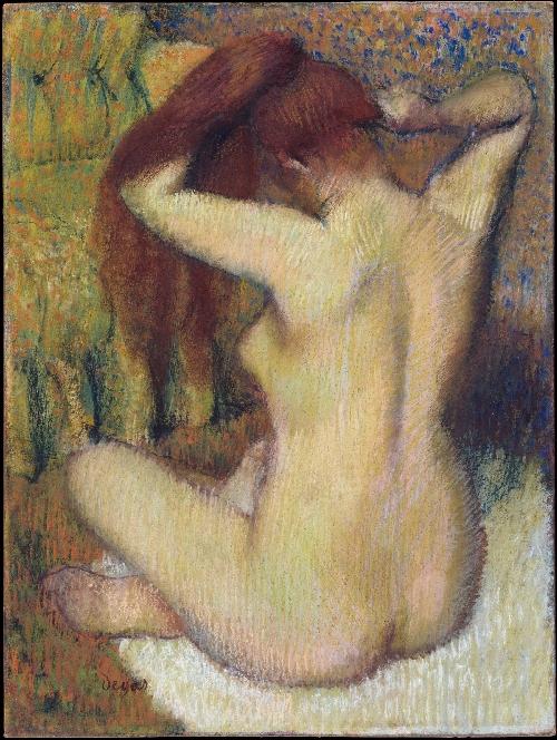 Woman Combing Her Hair (ca 1888-90) | Edgar Degas | oil painting