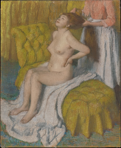 Woman Having Her Hair Combed (ca 1886-88) | Edgar Degas | oil painting