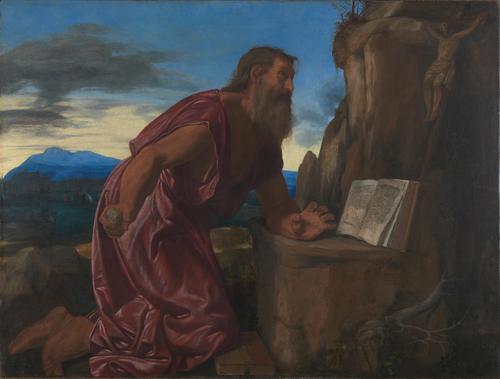 Saint Jerome   Giovanni Girolamo Savoldo   oil painting