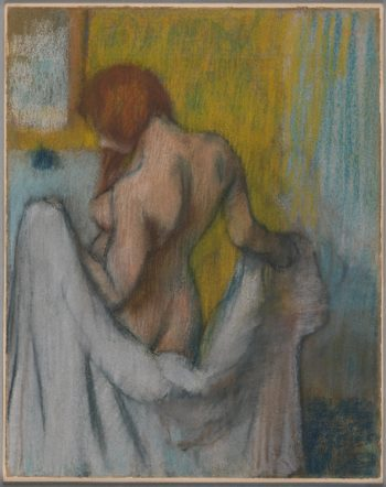 Woman with a Towel (1894 or 1895) | Edgar Degas | oil painting