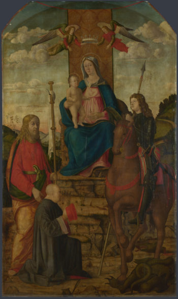 The Virgin and Child with Saints | Giovanni Martini da Udine | oil painting