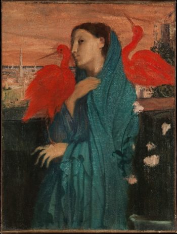Young Woman with Ibis (ca 1860-62) | Edgar Degas | oil painting