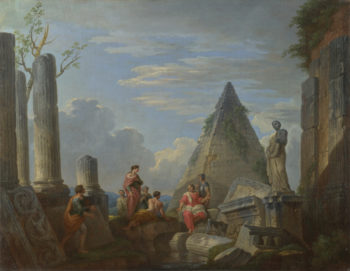 Roman Ruins with Figures | Giovanni Paolo Panini | oil painting