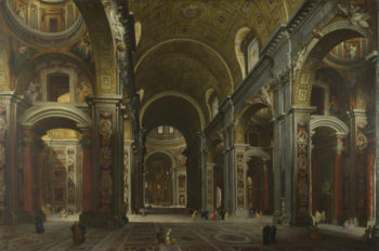 The Interior of St Peter's | Giovanni Paolo Panini | oil painting