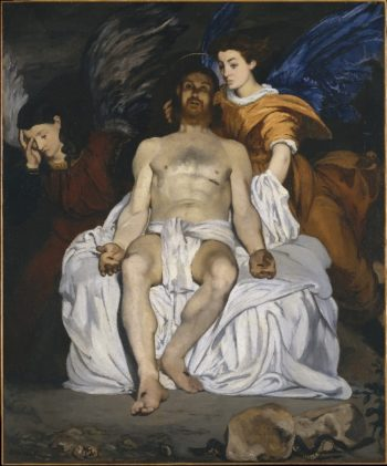 The Dead Christ with Angels (1864) | Edouard Manet | oil painting