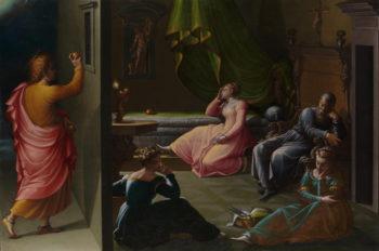 The Charity of St Nicholas of Bari | Girolamo Macchietti | oil painting