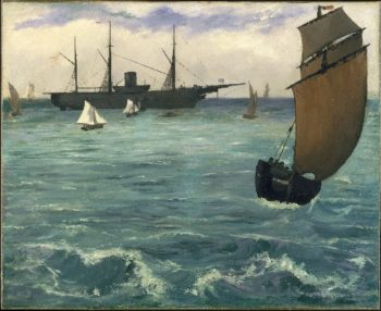 The Kearsarge at Boulogne (1864) | Edouard Manet | oil painting