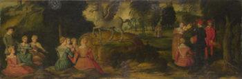 Pegasus and the Muses | Girolamo Romanino | oil painting