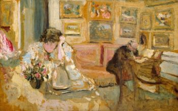 Jos and Lucie Hessel in the Small Salon Rue de Rivoli (ca 1900-05) | Edouard Vuillard | oil painting