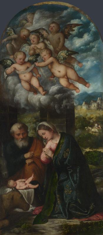 The Nativity | Girolamo Romanino | oil painting