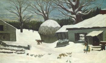 New England Farm in Winter