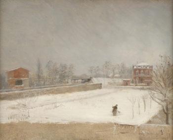 Winter Landscape | Giuseppe De Nittis | oil painting