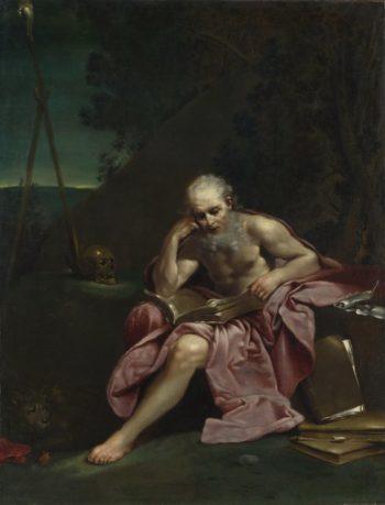 Saint Jerome in the Desert | Giuseppe Maria Crespi | oil painting