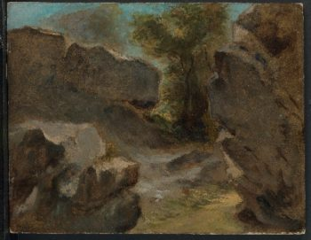 Landscape with Rocks Augerville (1854) | Eugene Delacroix | oil painting