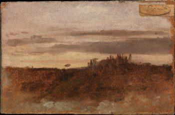 Dusk Monte Mario Rome (1804) | Francois-Marius Granet | oil painting