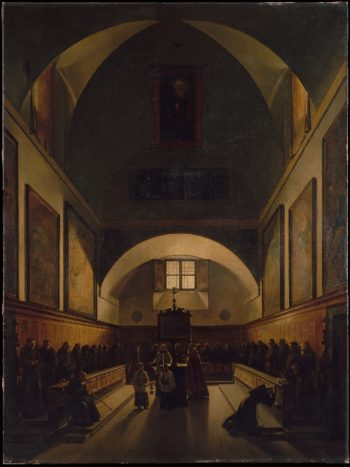 The Choir of the Capuchin Church in Rome (1814-15) | Francois-Marius Granet | oil painting