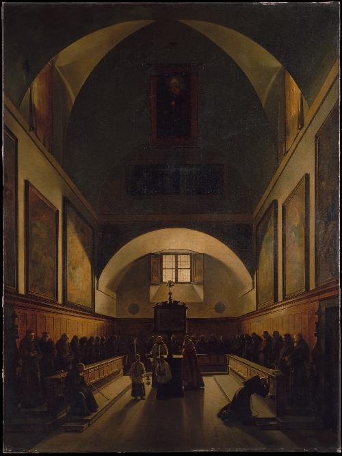 The Choir of the Capuchin Church in Rome (1814-15) | Francois-Marius Granet | oil painting