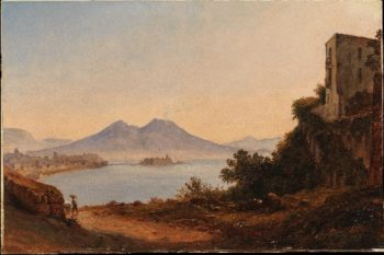 The Bay of Naples with Vesuvius and Castel dellOvo (ca 1818-20) | Franz Ludwig Catel | oil painting