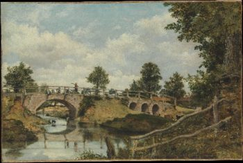 An Old Bridge at Hendon Middlesex | Frederick Waters Watts | oil painting