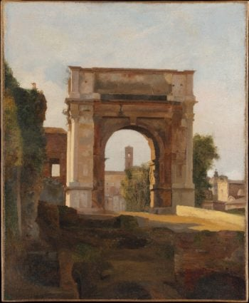 The Arch of Titus and the Forum Rome (ca 1824-35) | French Painter early 19th century | oil painting