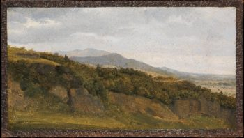 German Landscape with View towards a Broad Valley (ca 1829-30) | Fritz Petzholdt | oil painting