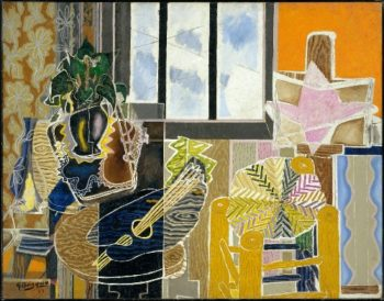 The Studio (Vase before a Window) (1939) | Georges Braque | oil painting