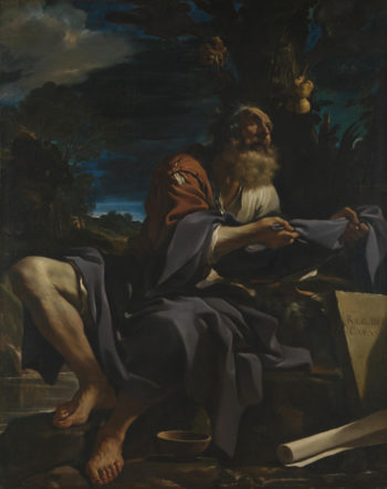 Elijah fed by Ravens | Guercino | oil painting