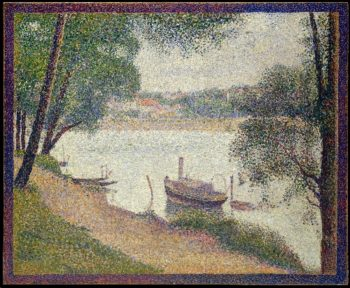 Gray Weather Grande Jatte (ca 1886-88) | Georges Seurat | oil painting