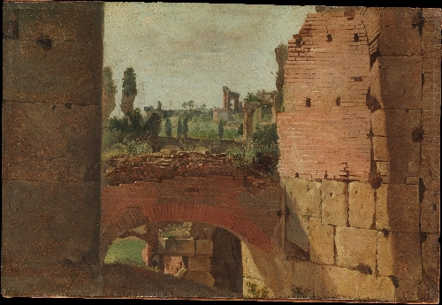 View from the Colosseum towards the Palatine | German painter early 19th century | oil painting