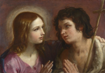 Christ embracing Saint John the Baptist | Guido Reni | oil painting