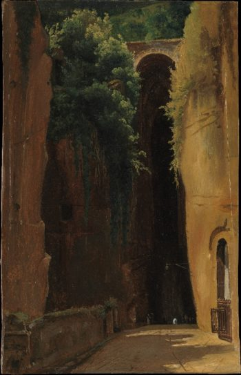 The Grotto of Posilipo Naples (1820) | Gustaf Soderberg | oil painting