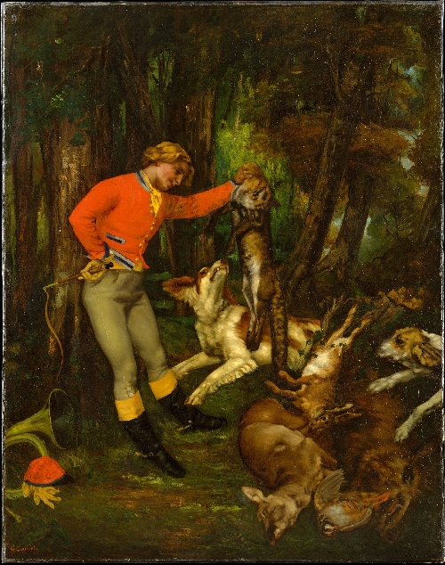 After the Hunt (ca. 1859) | Gustave Courbet | oil painting