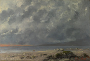 Beach Scene | Gustave Courbet | oil painting