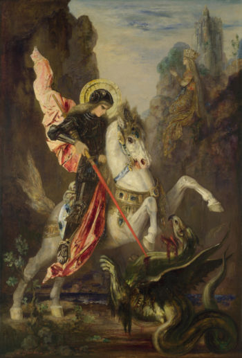 Saint George and the Dragon | Gustave Moreau | oil painting
