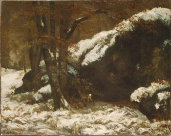 The Deer (ca 1865) | Gustave Courbet | oil painting