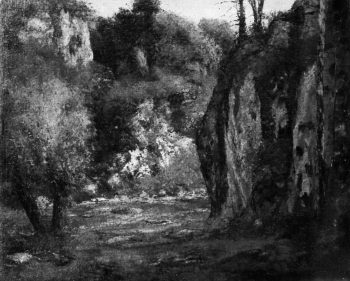 The Hidden Brook (ca 1873-77) | Gustave Courbet | oil painting