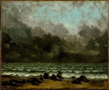The Sea (1873) | Gustave Courbet | oil painting