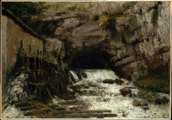 The Source of the Loue (1864) | Gustave Courbet | oil painting