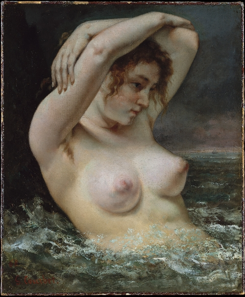 The Woman in the Waves (1868) | Gustave Courbet | oil painting