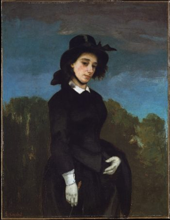 Woman in a Riding Habit (LAmazone) (1856) | Gustave Courbet | oil painting