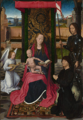 The Virgin and Child with an Angel | Hans Memling | oil painting