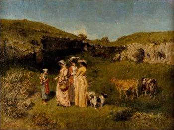 Young Ladies of the Village (1851-52) | Gustave Courbet | oil painting
