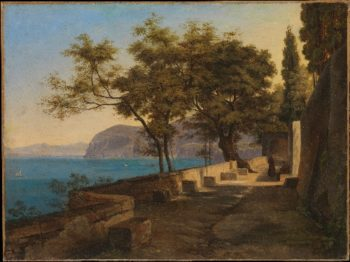 Terrace of the Capuchin Garden Sorrento (1823 or 1824) | Heinrich Reinhold | oil painting