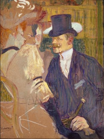 The Englishman at the Moulin Rouge (1892) | Henri de Toulouse-Lautrec | oil painting