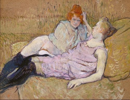 The Sofa (ca 1894-96)   Henri de Toulouse-Lautrec   oil painting