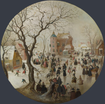 A Winter Scene with Skaters near a Castle | Hendrick Avercamp | oil painting
