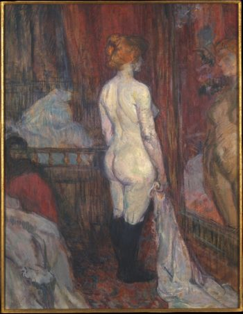 Woman before a Mirror (1897) | Henri de Toulouse-Lautrec | oil painting