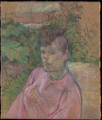Woman in the Garden of Monsieur Forest (1889-91) | Henri de Toulouse-Lautrec | oil painting