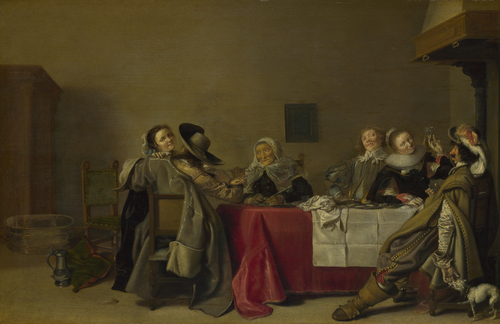 A Merry Company at Table | Hendrick Pot | oil painting