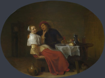 Two Lovers at Table | Hendrick Sorgh | oil painting